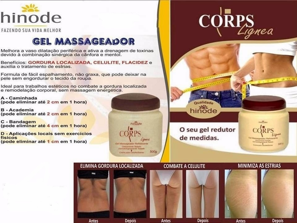 gel redutor hinode beneficios