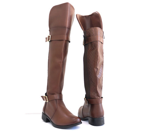 Bota Feminina Montaria Over Knee Chocolate 6